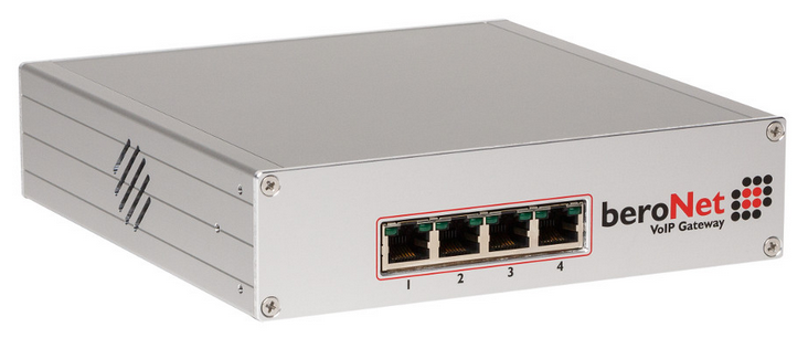 VoIP-Gateways: beroNet VoIP-Gateway 4 Ports
