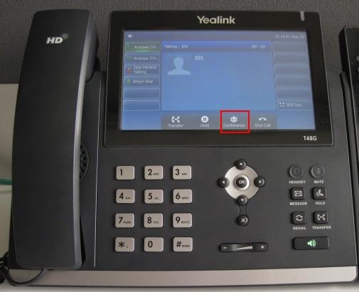 Einrichten einer Telefonkonferenz per Yealink T10/T10