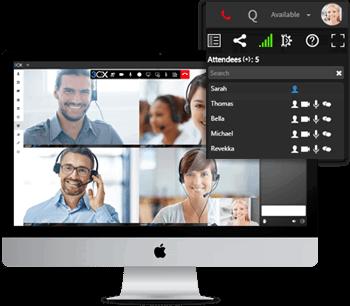 Sparen Sie Geld dank integrierter Videokonferenz-Funktionalität