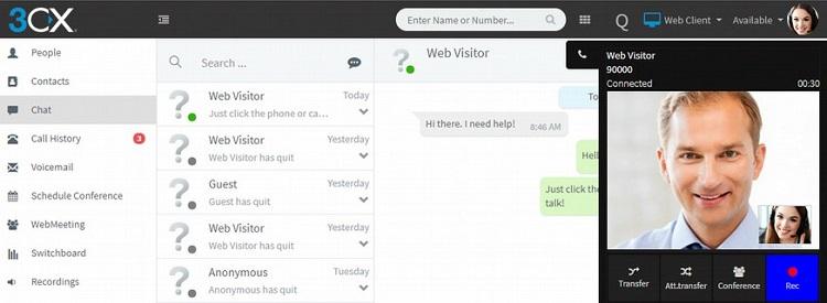 Führen Sie Video-Chats mit Ihren Website-Besuchern über das 3CX Live Chat and Talk Plugin