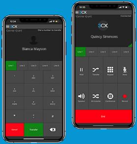 Mit den 3CX Apps k?nnen Anrufe bequem per Smartphone weiterleiten
