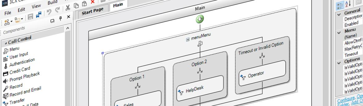 3CX Call Flow Designer mit neuer Benutzeroberfläche & Expression Editor