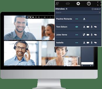 Mit 3CX wird die Teilnahme an Videokonferenzen einfach