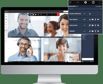 Nutzen Sie 3CX′s integrierte Webkonferenz-L?sung