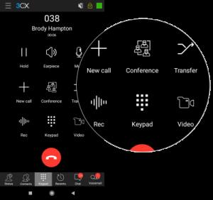 Die neue Benutzeroberfläche der 3CX Android App