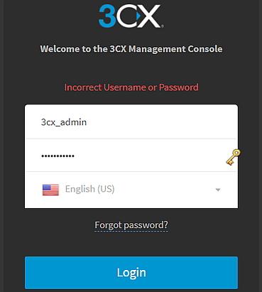 """Link """"Passwort vergessen"""" bei Anmeldung an Verwaltungskonsole"""