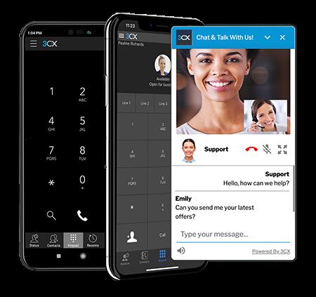 Interaktiver Austausch per mobilen Apps und Live Chat