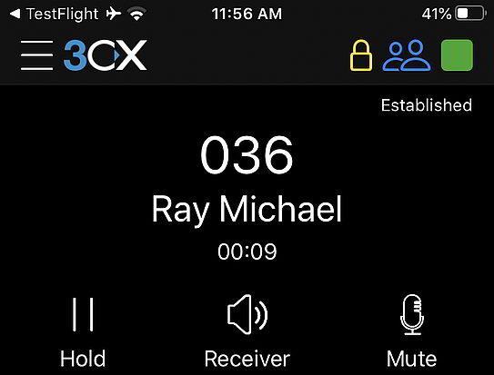 standardgemäß sichere Anrufe per iOS App