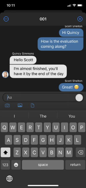 iOS Chat
