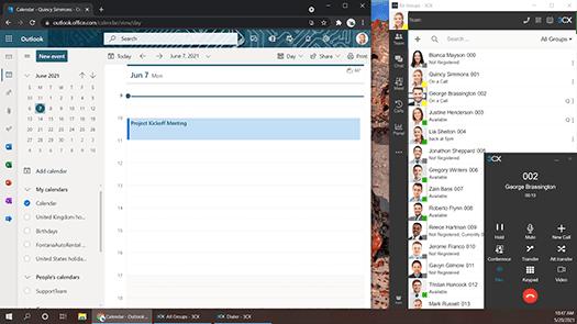 nahtlose Integration von 3CX mit Microsoft 365