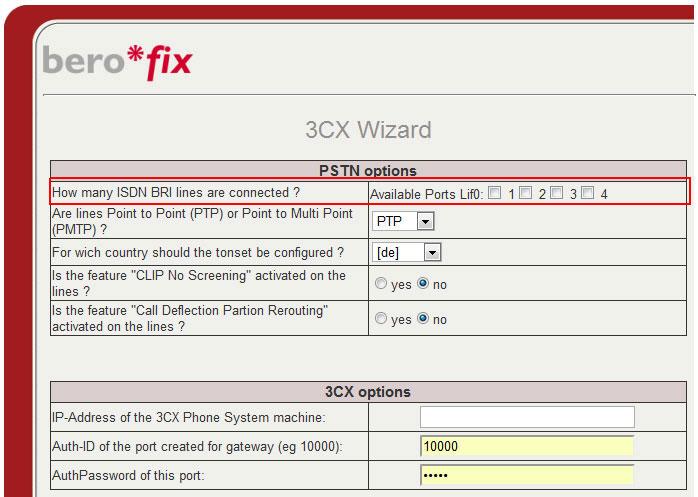 bero*fix - 3CX Wizard