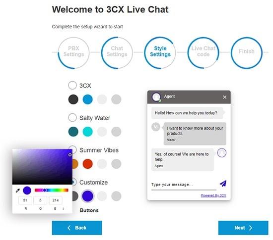 I nuovi temi del selettore della live chat