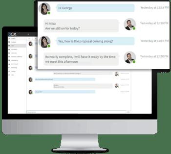 Comunique-se instantaneamente com seus colegas com a ferramenta de Chat Instantâneo.