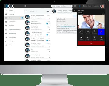 Chat e Chamada em uma Interface Única