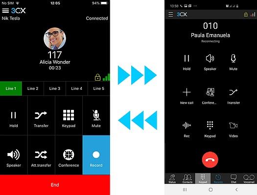 Descargue las Apps 3CX para iOS y Android y pruebe las nuevas funcionalidades