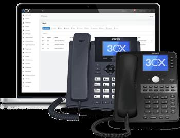 Consola de Administración de la Central Telefónica 3CX para el PBX en la Nube Linux o Windows