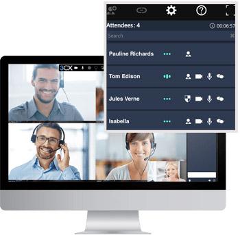 Realice una videoconferencia para usuarios ilimitados con 3CX