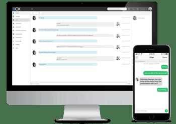 Mensajería Instantánea / Chat de texto funcionalidades de Comunicaciones Unificadas