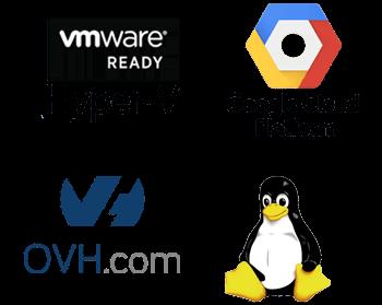 En la Nube con su proveedor de servicios en la nube, OVH, Amazon, 1&1 y Google Cloud