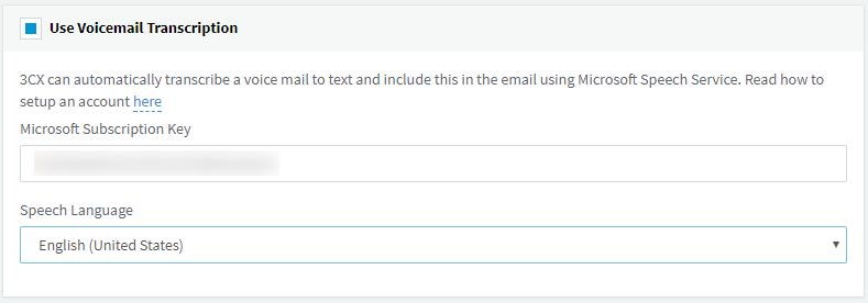 Transcripción del correo de voz a texto en 3CX V15.5 Actualización 4