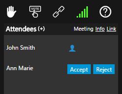 Accepter ou refuser des participants 3CX Webmeeting
