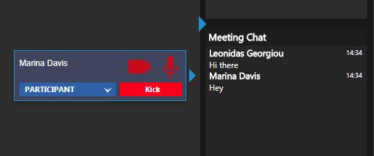 Nouvelle fonctionnalité de web conférence - Administration du chat