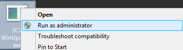 faites tourner l'outil de mise à jour automatique de 3CX en tant qu'administrateur.