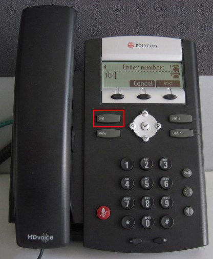 Polycom Soundpoint IP 335 - bouton Dial