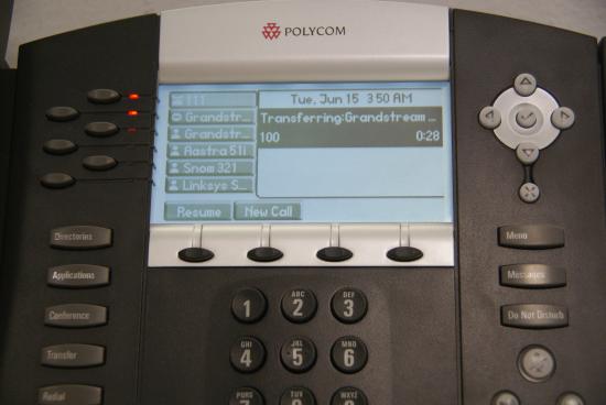 Transfert Polycom - transfert en cours