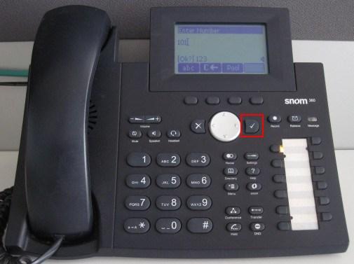 Passer un appel avec un snom 320/360/370