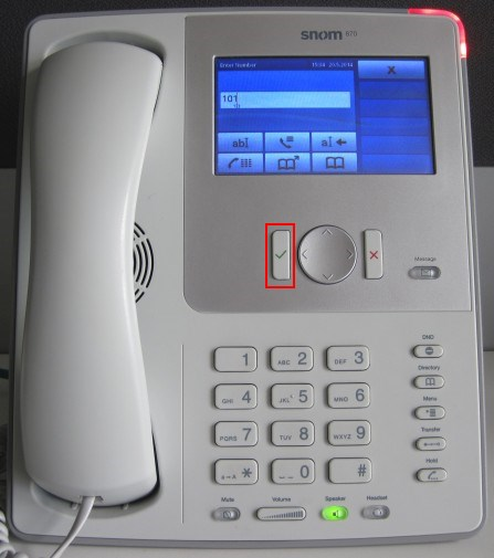 Snom 870 - passer l'appel