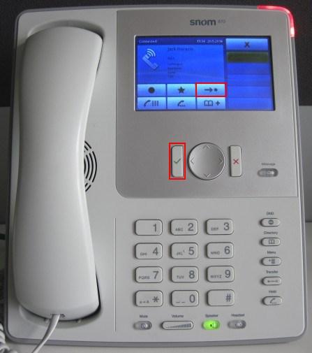 Transfert avec téléphone snom