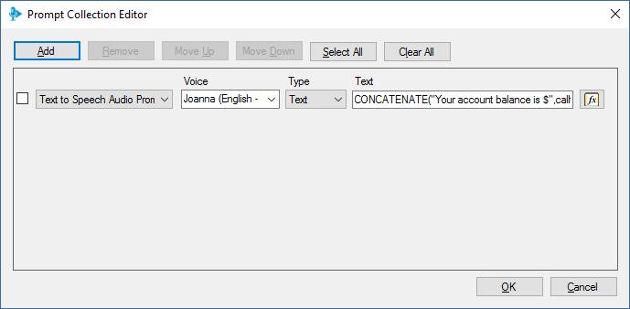 Le 3CX Call Flow Designer inclut la fonction Text to Speech