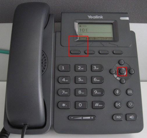Yealink-T19P - passer l'appel