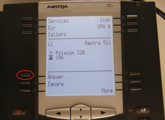 Transfert Aastra - transfert en attente