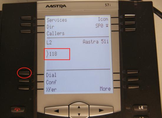 Transfert Aastra - composition de l'extension