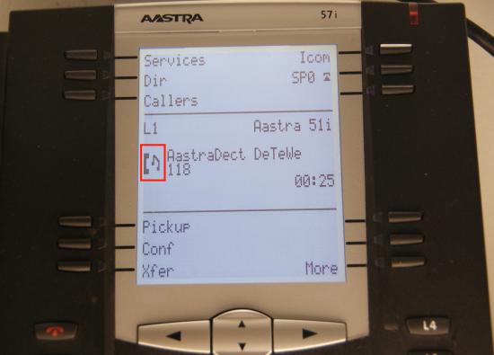 Transfert Aastra - transfert de l'appel