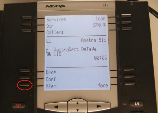 Transfert Aastra - bouton de transfert