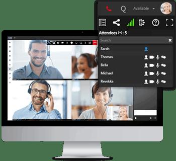 Communication en temps réel avec la visioconférence incluses dans les Communications Unifiées de 3CX