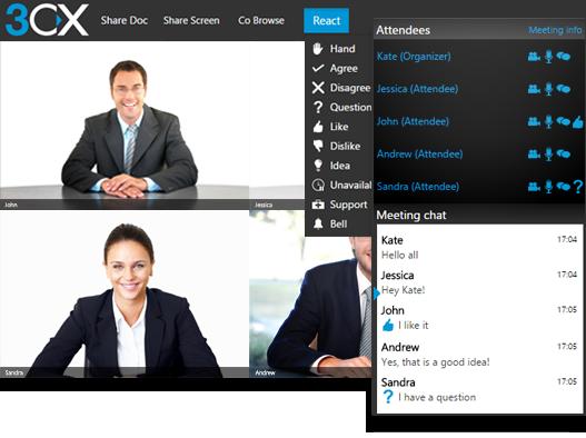 Бесплатные видеоконференции 3CX Webmeeting