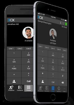 Клиенты 3CX для Android и iOS - интерфейс