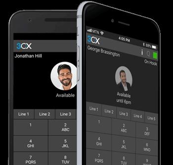 Виртуальная АТС 3CX - мобильные клиенты для смартфонов и ПК на Mac и Windows