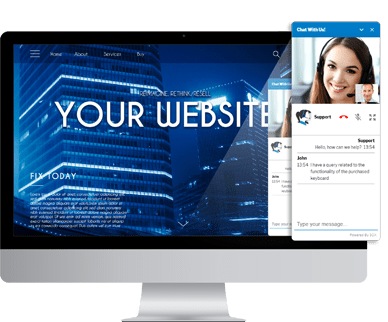 you website with 3cx chat&talk plugin