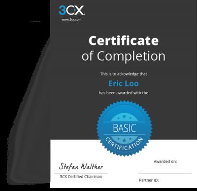 Behaal uw 3CX-certificaat