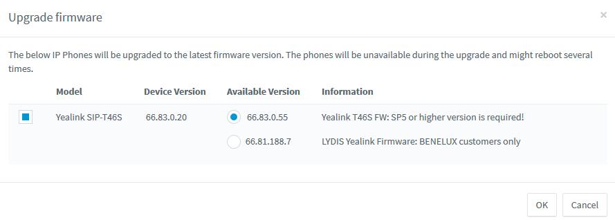 Haal de nieuwste Yealink-firmware op via de 3CX-beheerconsole