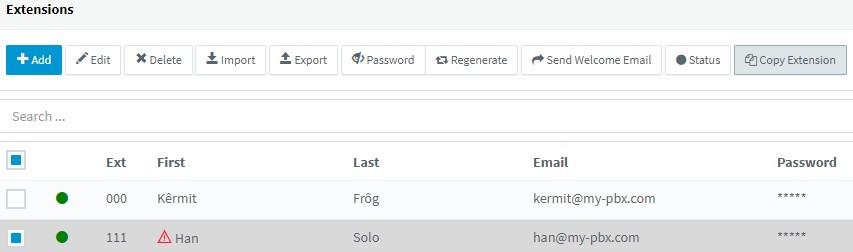 Nieuwe optie voor kopiëren van extensies toegevoegd aan de 3CX v16 Release Candidate