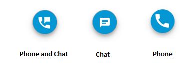 Minimaliseer uw webchat en laat uw gebruikers de verschillende contactmogelijkheden zien