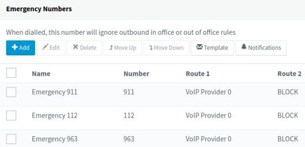 Nieuwe opties voor alarmnummers in 3CX v16 update 5