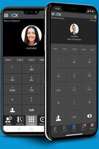 Met de 3CX-apps kunt u overal werken